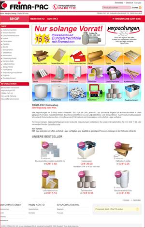 Verpackungen365.ch: Der Onlineshop für Verpackungen von der Frima Pac AG