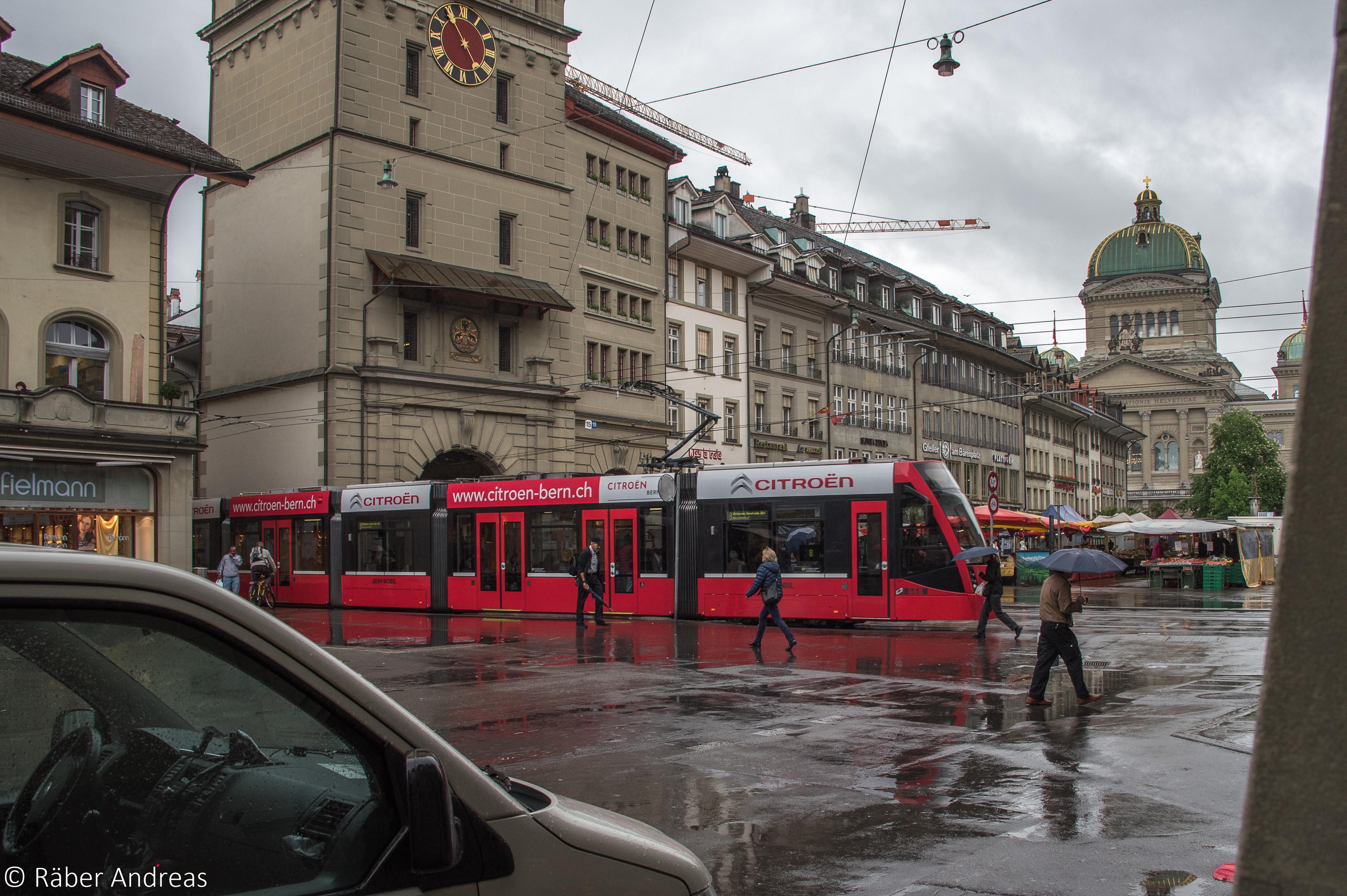 Mobile Werbung auf dem Tram, oder Auto