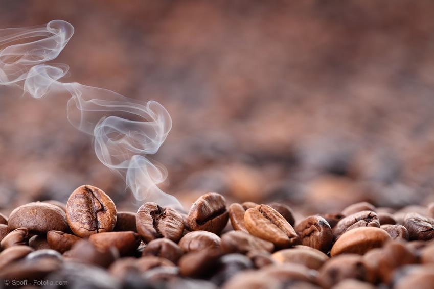Frisch gerösteter Kaffee im Kaffee Shop