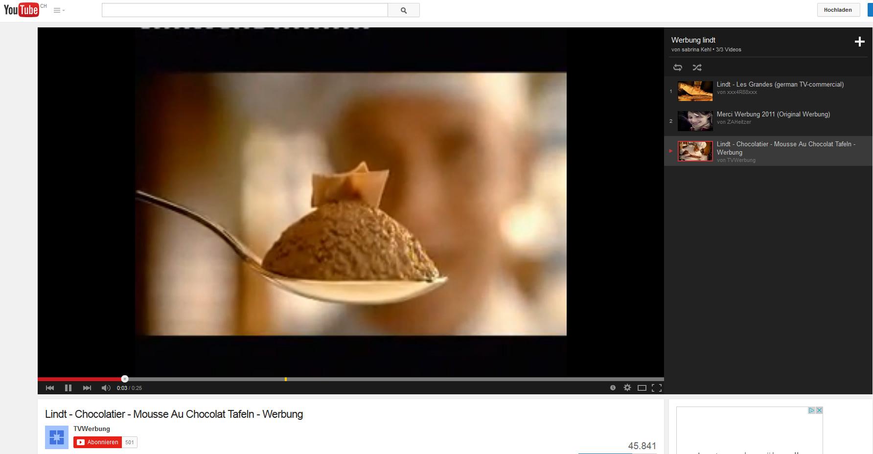 TV Spots von Lindt - Produktion von Pralinen, Pralinenverpackungen sind wichtig