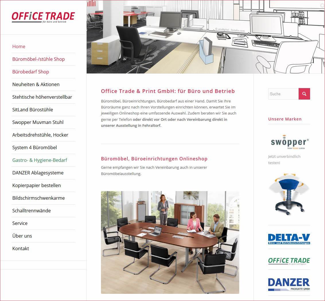 Büromöbel und Bedarf Onlineshop, Region Zürich