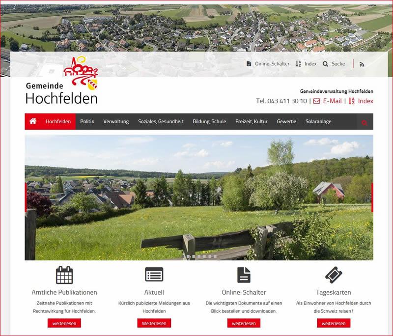 Webauftritt der Gemeinde Hochfelden