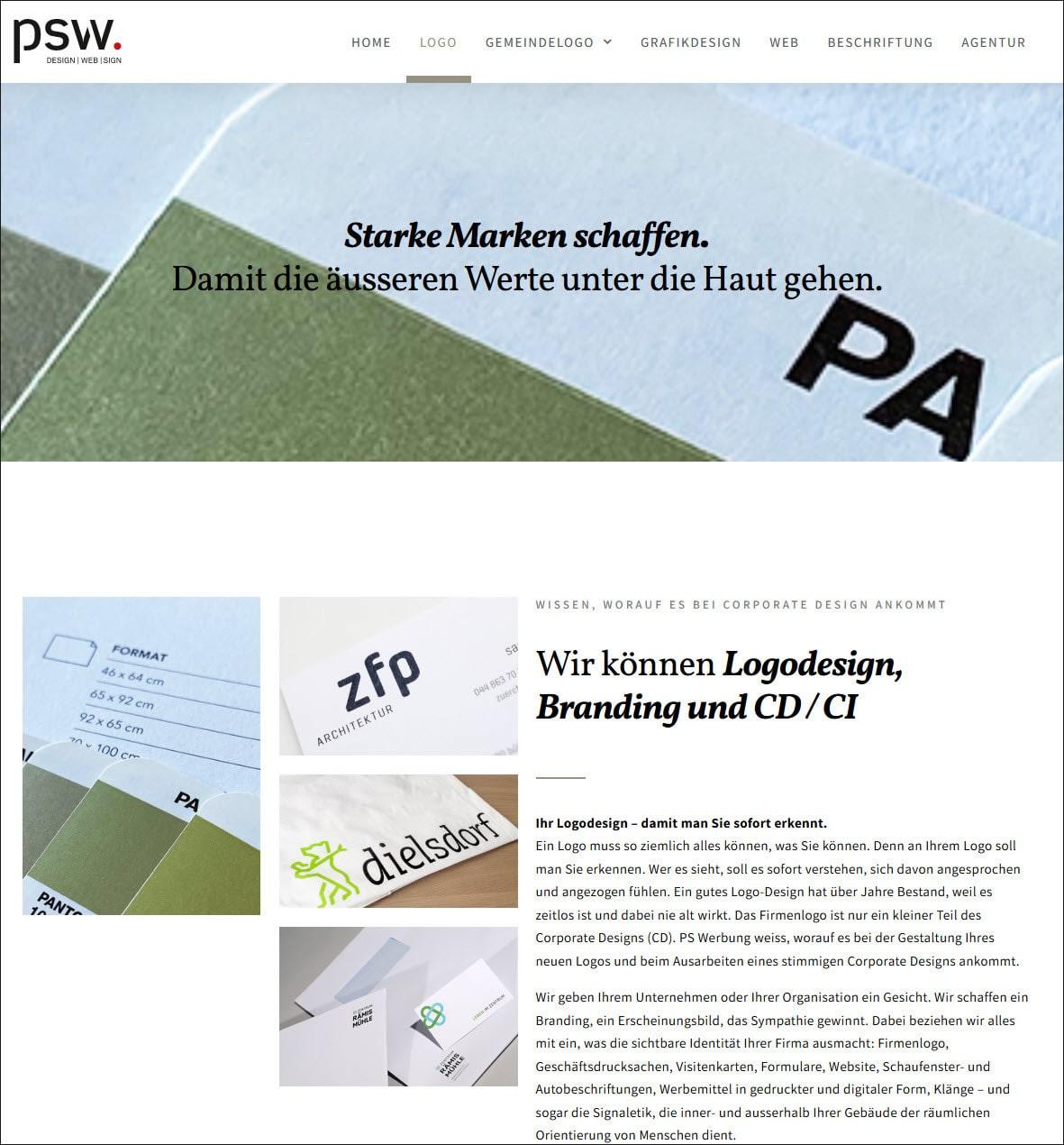 Logodesign Agentur - PS Werbung